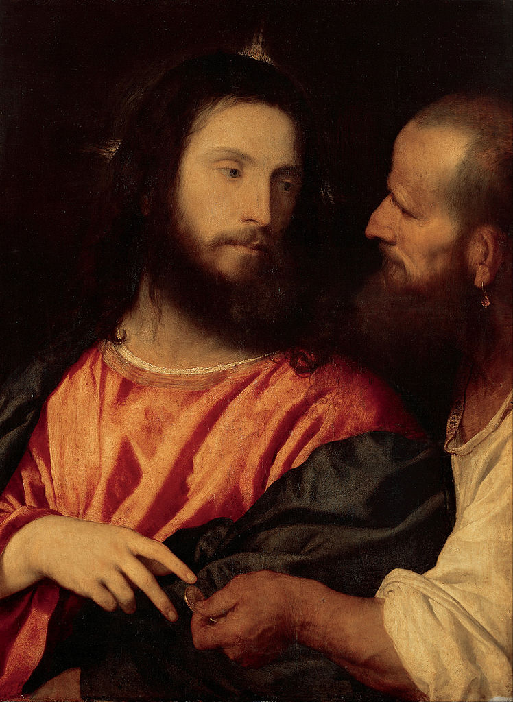 Titian Christ and St Peter Tribute Money