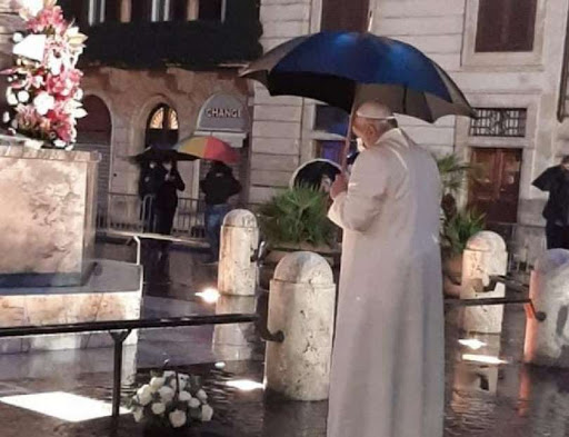 Pope Francis Immaculate Spanish steps