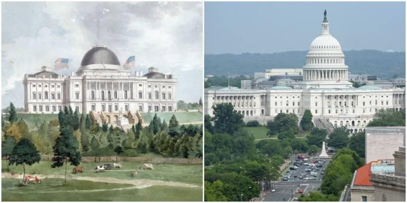 Original US Capitol and now