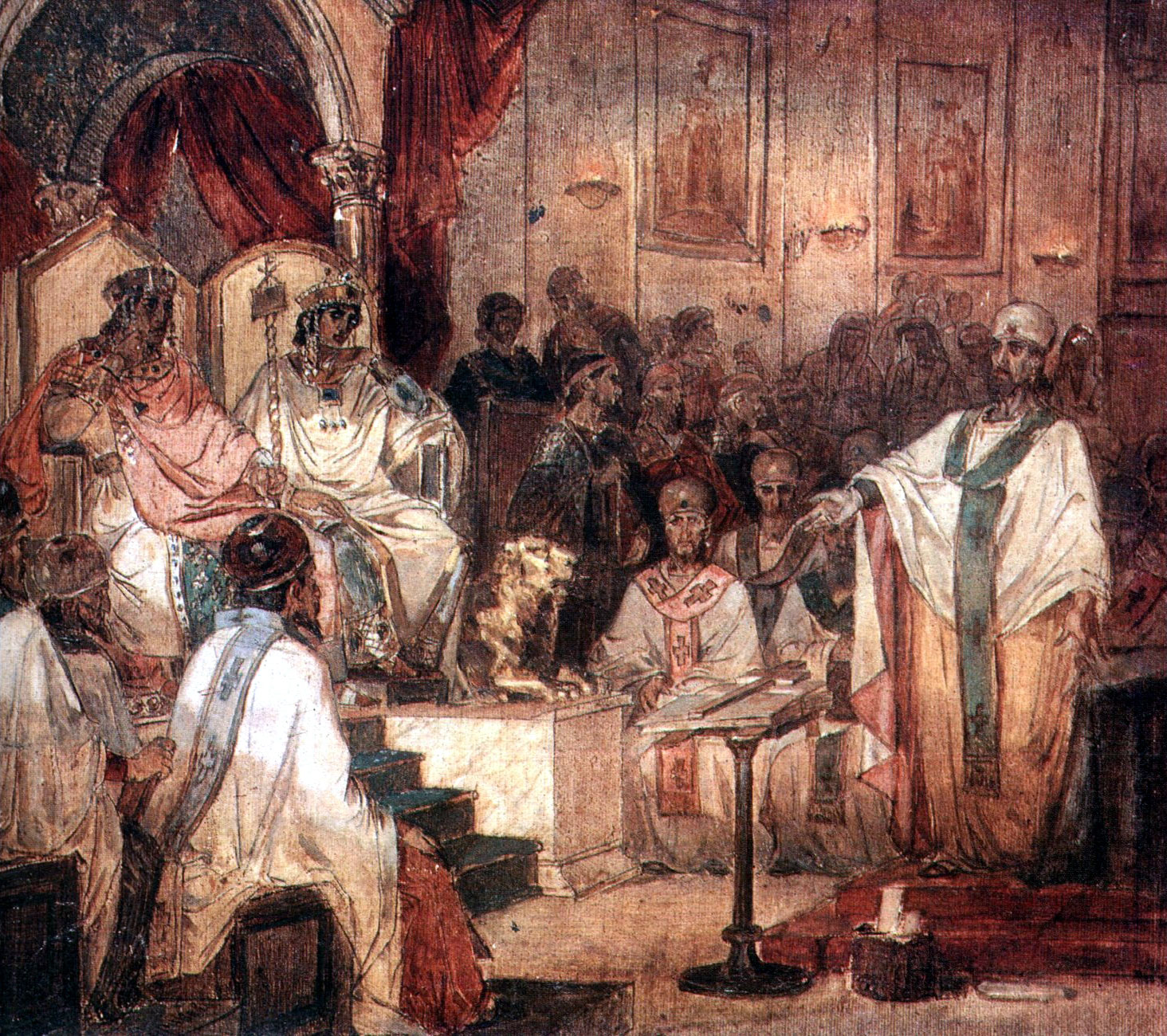 Vasily Surikov's painting of the Council of Chalcedon